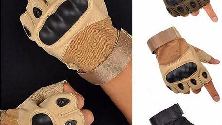 Bezprstové outdoorové rukavice