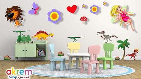 Dětské dekorativní samolepky na zeď v několika motivech