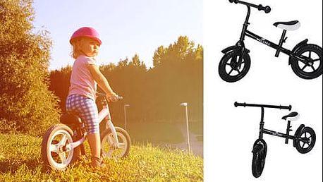 Dětské odrážecí kolo v černé barvě jako vánoční dárek