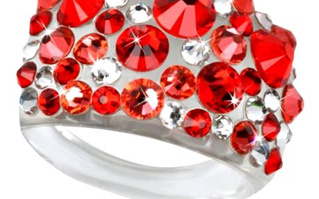 Fashion Icon Prsten Bubble akryl Swarovski elements