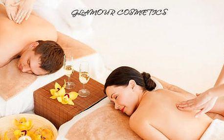 Romantické chvíle ve dvou v salónu Glamour Cosmetics s masáží, bahenním zábalem, sektem a mísou plnou ovoce