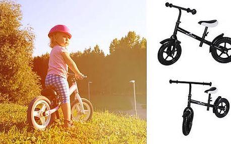 Dětské odrážecí kolo v černé barvě