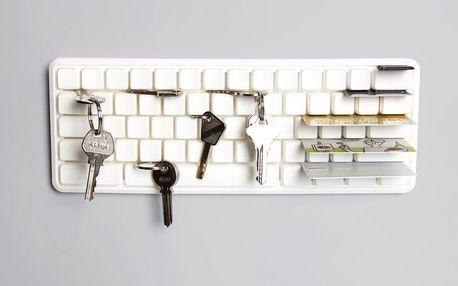 Bílý věšáček na klíče Qualy Keys Board