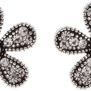Fashion Icon Náušnice kytičky krystalky a patina