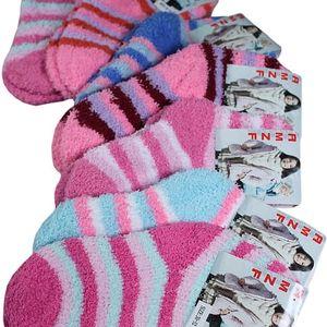 Hřejivé dětské žinilkové ponožky na doma nebo na spaní
