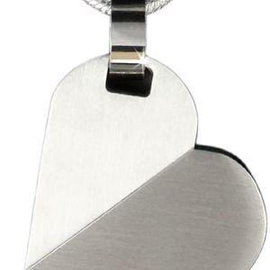 Fashion Icon Přívěsek otočné srdce chirurgická ocel