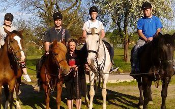 Projížďka na koni v přírodě pro dospělé