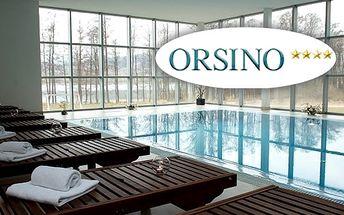 Welness pobyt pro dva ve 4*hotelu Orsino u Lipna, polopenze, bazén, sauna, masáž, aj.