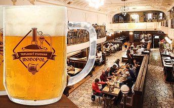2 nebo 3denní pobyt pro dva s konzumací piva v hotelu Monopol v Teplicích