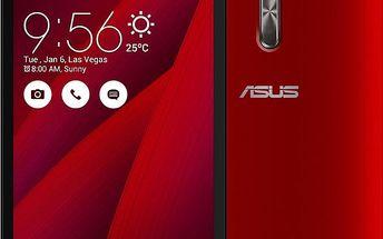 ASUS ZenFone 2 Laser, červená - 90AZ00E3-M04370