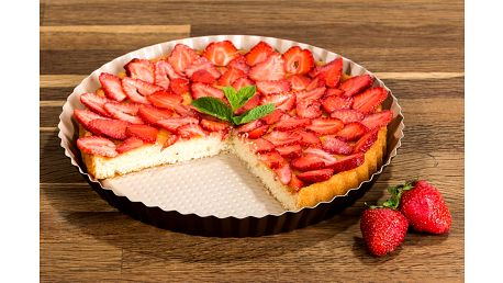 4Home Forma na koláč s keramickým povrchem, hnědá, 28 cm, v. 3 cm