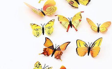 Dekorace v podobě 3D motýlků - dodání do 2 dnů