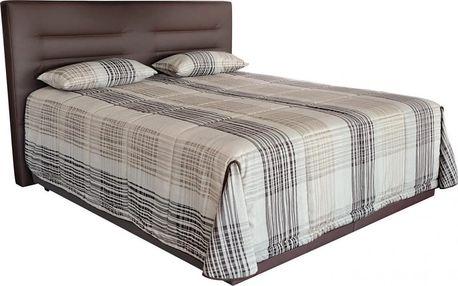 Manželská postel Real 180x200 s vysokou matrací Ivana plus