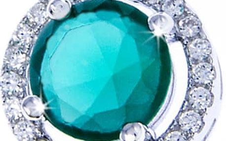 Fashion Icon Přívěšek stříbro zelený krystal