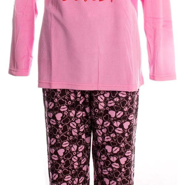 Valerie dream Dámské pyžamo I Love Paris teplé flísové