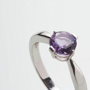 Stříbrný prsten s ametystem PK078