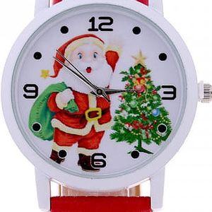 Dětské hodinky se Santa Clausem a stromečkem - mix barev