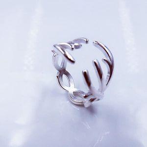 Originální prsten se vzorem paroží