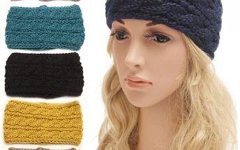Pletená čelenka pro ženy v osmi barvách