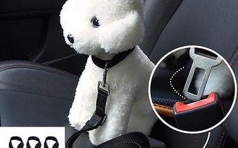 Bezpečnostní pásy do auta pro psy a kočky