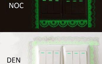 Fluorescenční samolepky k vypínačům