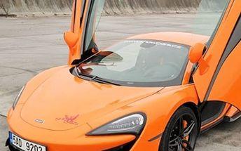 20 minutová jízda v nadupané káře McLaren 570 S s rychlostí až 300 km/hod.