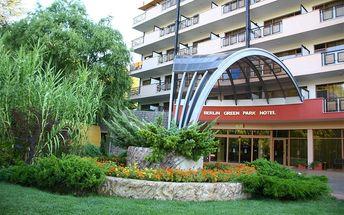 Hotel Berlin Green Park, Bulharsko, Černomořské pobřeží, 8 dní, Letecky, All inclusive, Alespoň 4 ★★★★, sleva 4 %, bonus (Levné parkování u letiště: 8 dní 499,- | 12 dní 749,- | 16 dní 899,- , Rezervace zájezdu za 990 Kč/os)