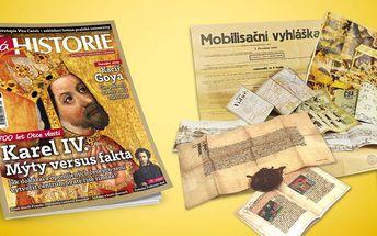 Předplatné časopisu Živá historie 2016 se spoustou dárků