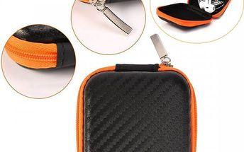 Černo-oranžové mini pouzdro na elektro
