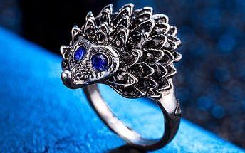 Unikátní prsten s ježkem