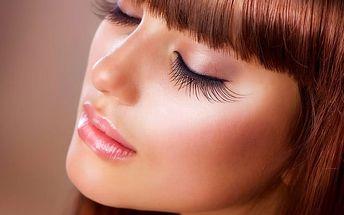 Prodloužení nebo doplnění řas v salonu Beauty