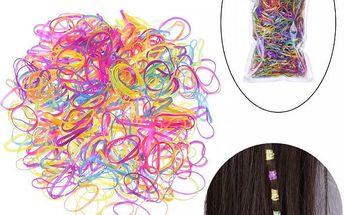 Barevné gumičky do vlasů - 2200 kusů