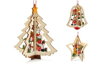 Dřevěná vánoční dekorace Christmas time