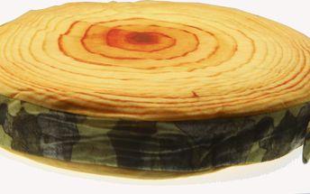 Luxusní kulatý polštář s motivem ovoce Vzor: Dřevo 1