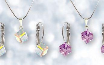 Elegantní šperky Swarovski ve tvaru kostky
