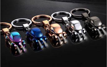 Přívěsek na klíče - auto se světýlkem