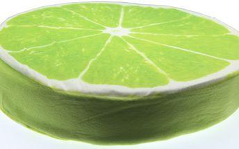 Luxusní kulatý polštář s motivem ovoce Vzor: Limetka