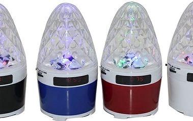 Přenosný mini reproduktor s LED efektem