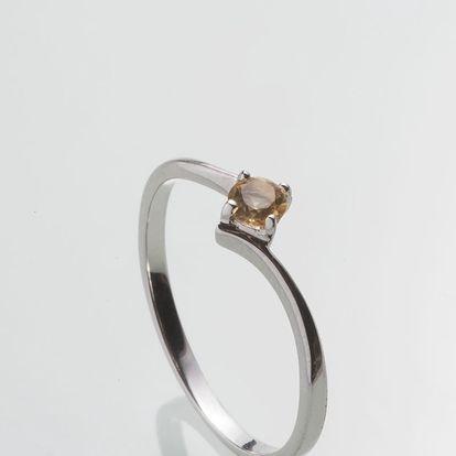 Stříbrný prsten s citrínem PK069