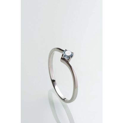 Stříbrný prsten s topazem PK068