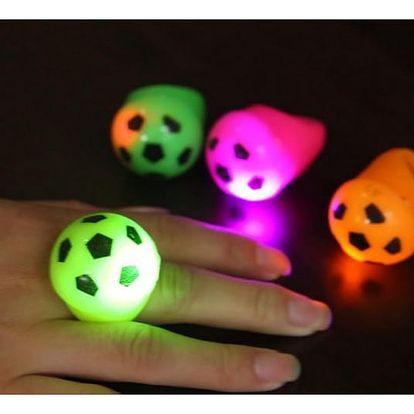 LED prsten v podobě fotbalového míče - dodání do 2 dnů