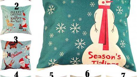 Povlak na polštář - různé vánoční motivy
