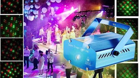 Modrý laserový projektor - 20 vzorů