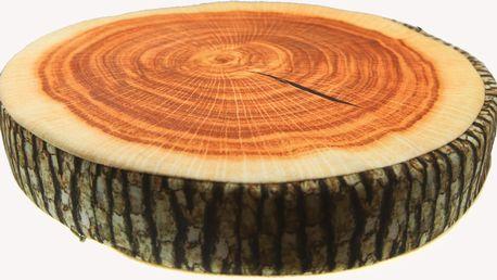 Luxusní kulatý polštář s motivem ovoce Vzor: Dřevo 2