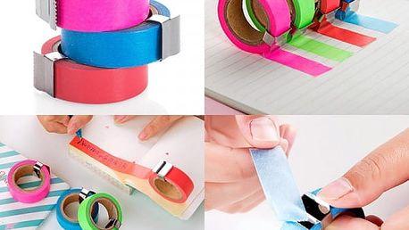 Barevné lepicí pásky s trhačem
