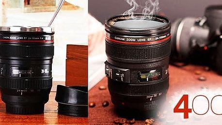 Objektiv - termohrnek pro fotografa