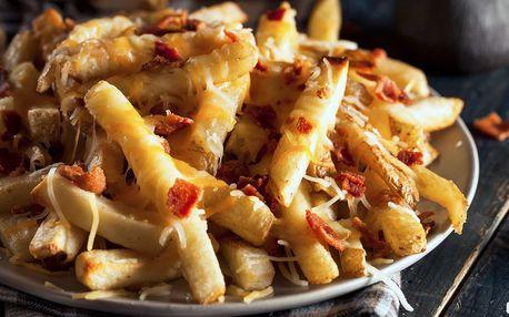 Hranolky se slaninou a čedarem z Love Patatas