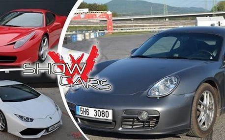 Showcars - viděli jste v pořadu Autosalon. Na výběr 10 luxusních supersportů. Zažijete 20 minut jízdy autem snů rychlostí až 300 km/hod. Pro ochutnávku: Ferrari 458 Italia (607 koní) nebo třebaFord Mustang GT500 SHELBY.