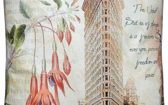 Polštář MONUMENT Essex 45x45cm motiv Flatiron Building Varianta: Povlak na polštář, 45x45 cm
