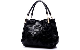 Lesklá kožená kabelka Aligator - 3 barvy